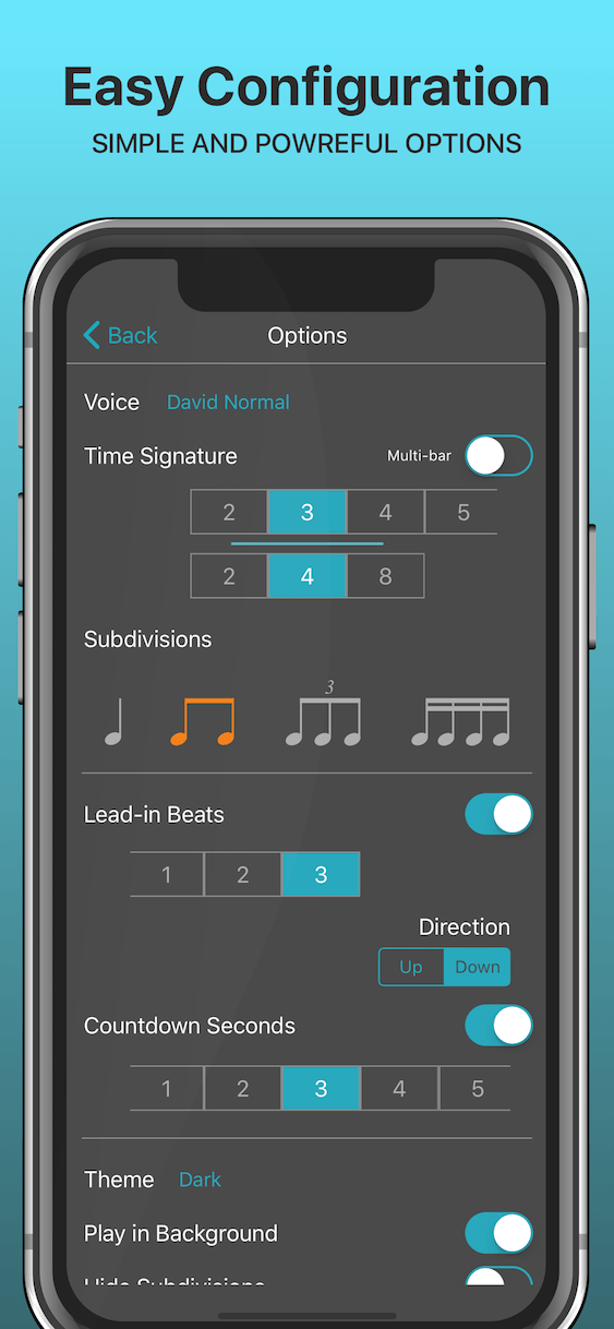 Metronome App - Best Free - [SpeakBeat Pro w/ Voice Counting #1]